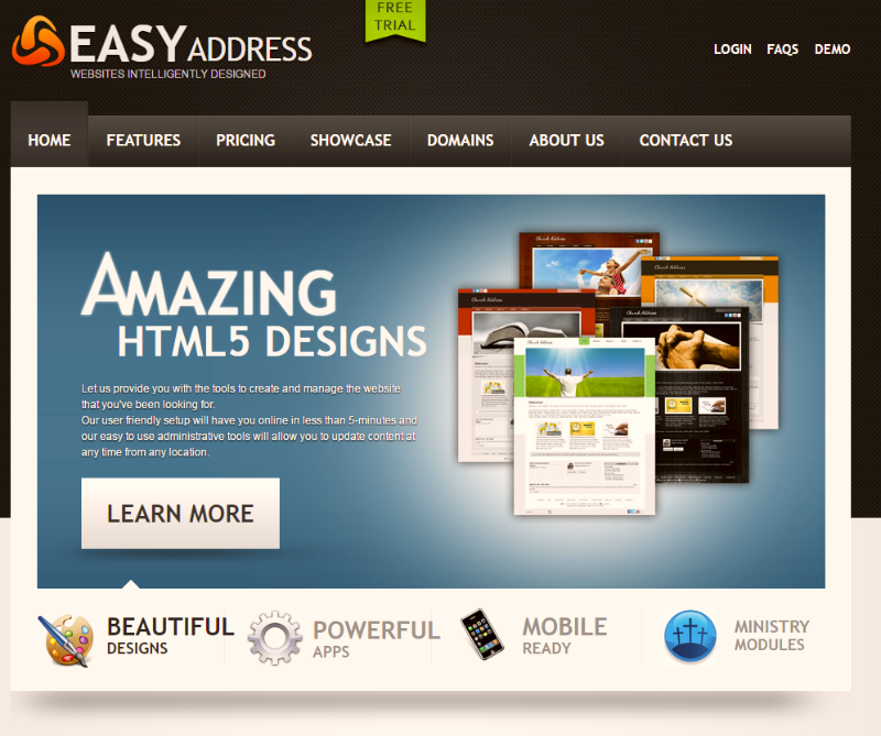 Easy Address do-it-yourself Website hosting and design